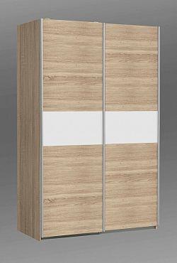 Forte OHIO, šatní skříň OHS823E1, dub sonoma/bilá