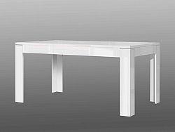 Forte SLATE, rozkládací stůl XELT16, bílý lesk