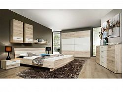 Forte VALERIE, ložnice, dub pískový/bílá