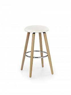 Halmar Barová židle H76, krémová ekokůže