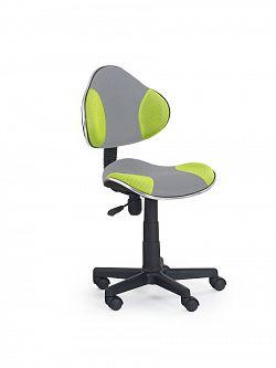 Halmar Dětská židle FLASH-2, šedá/zelená