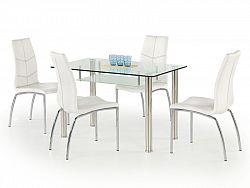 Halmar Jídelní stůl OLIVIER, kov/sklo