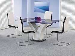 Halmar Jídelní stůl VESPER, černobílý