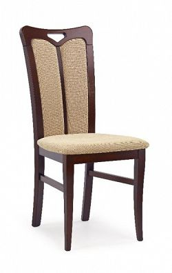 Halmar Jídelní židle HUBERT 2, ořech tmavý