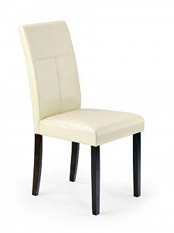 Halmar Jídelní židle KERRY BIS, wenge/béžová