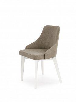 Halmar Jídelní židle TOLEDO, bílá/světle  hnědá