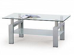 Halmar Konferenční stolek DIANA, stříbrná