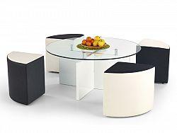 Halmar Konferenční stolek LATOYA, bílá/černá