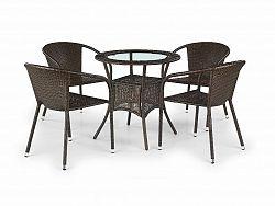 Halmar Stůl MIDAS, tmavě hnědý
