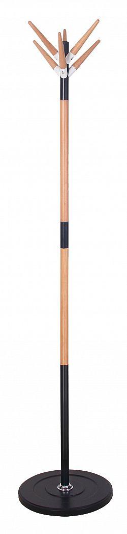 Halmar Věšák W54 výška 178 cm, černý/buk