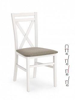 Halmar Židle DARIUS, bílá