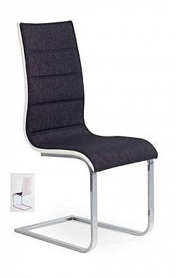 Halmar Židle K105, černá/bílá