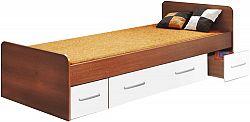Idea Jednolůžko se zásuvkami 60345 90x200 cm, lamino, ořech/bílá