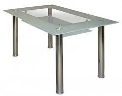 Idea Jídelní stůl S3007-I, chrom + sklo