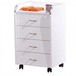 Idea Kontejner 4 zásuvky Pronti, bílý
