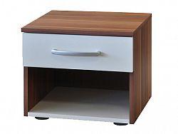 Idea Noční stolek 60140, ořech/bílá