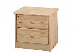 Idea Noční stolek K1-I (2 zásuvky), masiv borovice