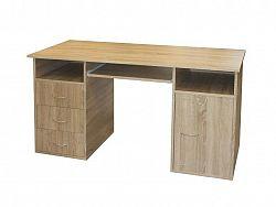 Idea Praktický PC stůl se zásuvkami a skříňkou 50194, dub sonoma