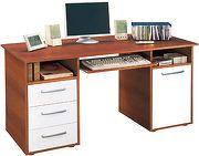 Idea Praktický PC stůl se zásuvkami a skříňkou 60194, ořech/bílá