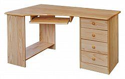 Idea Rohový PC stůl 8846, borovice