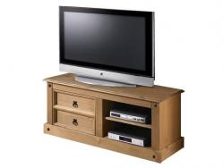 Idea TV stolek CORONA, masiv borovice, vosk