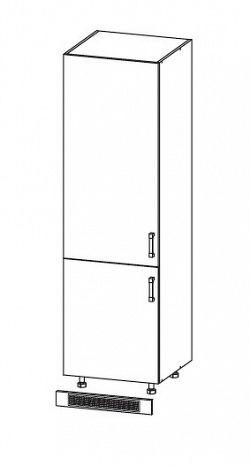 IRIS skříň na lednici DL60/207 levá, korpus šedá grenola, dvířka bílá supermat