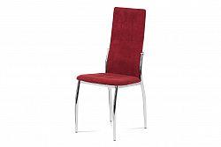 Jídelní židle DCL-213 RED2, červená látka/chrom