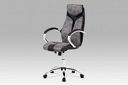 Kancelářská židle KA-N520 GREY, šedá/černá