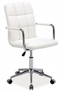 Kancelářská židle Q-022 bílá ekokůže