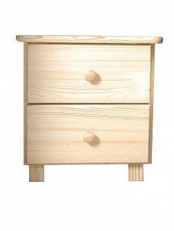MAGNAT Noční stolek TINA, masiv borovice, moření: ...