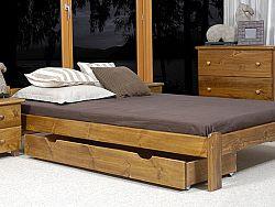 MAGNAT Úložný prostor pod postel 150 cm, masiv borovice/moření dub