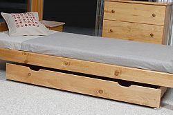 MAGNAT Úložný prostor pod postel 150 cm, masiv borovice/moření olše
