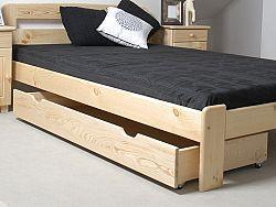 MAGNAT Úložný prostor pod postel 198 cm, masiv borovice, moření: ...