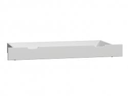 MAGNAT Úložný prostor pod postel 98 cm, masiv borovice/moření bílá