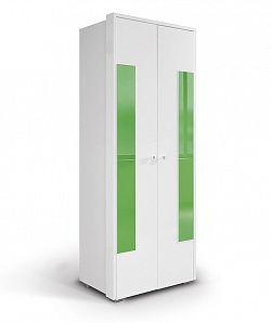 MATIS HAPPY, skříň 220 02V2F, bílá/zelená