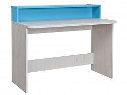 MATIS NUMERO pracovní, psací stůl, dub bílý/modrá