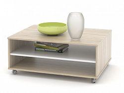 MB Domus Konferenční stolek ZU05, dub sonoma/bílá