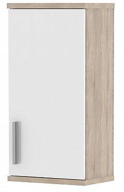 MB Domus LINDA, skříňka horní LI04, dub sonoma/bílý lesk