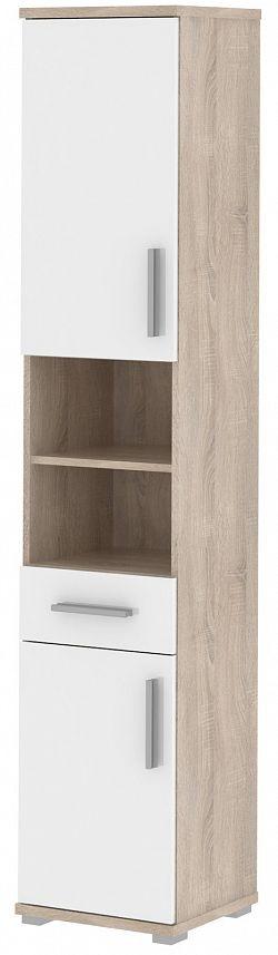 MB Domus LINDA, skříňka vysoká LI05, dub sonoma/bílý lesk