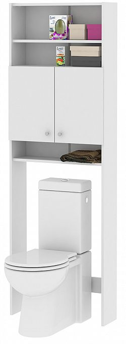 MB Domus LUNA, skříňka vysoká nad WC či pračku LU05, bílá