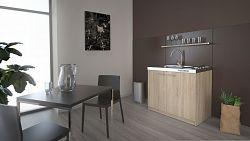 MB Domus Minikuchyně SMART 100 cm s vařičem a dřezem, dub sonoma