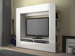 MB Domus Obývací monoblok PRIOR - PR 04, bílá/bílý lesk