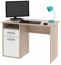 MIRO PC stůl dub Sonoma / bílá