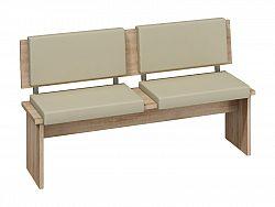 MORAVIA FLAT BOND, lavice velká, dub sonoma sv./béžová ekokůže
