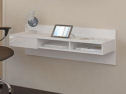 MORAVIA FLAT Designový psací stůl UNO, bílá/bílý lesk