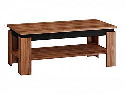 MORAVIA FLAT Konferenční stolek BETA, švestka/černý lesk