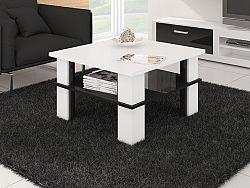 MORAVIA FLAT Konferenční stolek FUTURA 1, bílá/černý lesk