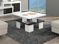 MORAVIA FLAT Konferenční stolek SUPRA 1, bílá/černý lesk