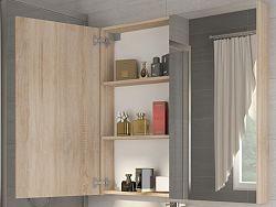 MORAVIA FLAT Koupelnová skříňka DELLA 60 cm, dub sonoma