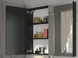 MORAVIA FLAT Koupelnová skříňka DELLA 80 cm, černá